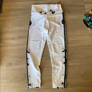 Floral side stripe legging